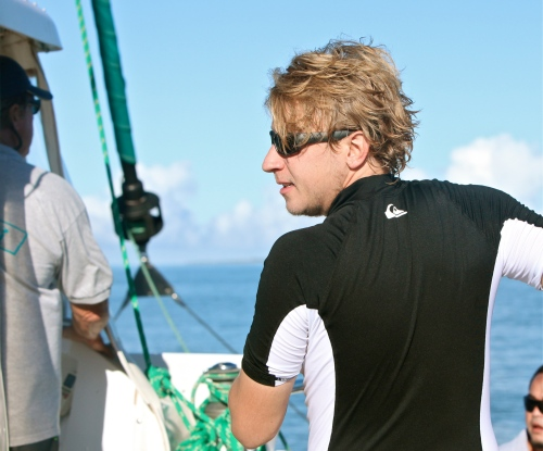 Eric Norris, island hair.