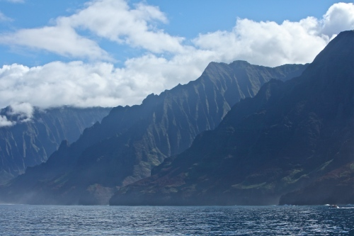 View of the Na Pali Coast.