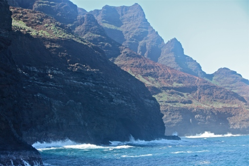 Cliffs on the Na Pali Coast.