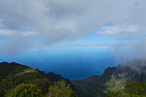 Kalalau Lookout, Waimea Canyon, Kaua'i, Hawai'i.