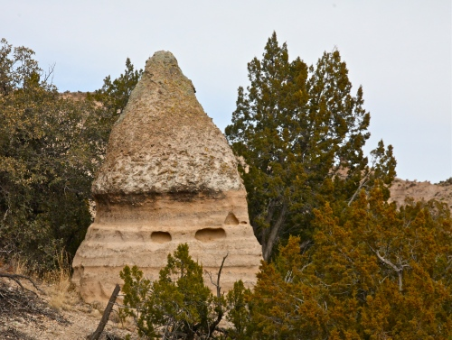 Close view of a hoodoo.