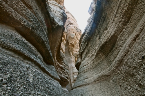 Continuing up the slot canyon trail.