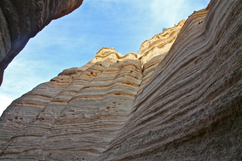 Looking up a little farther along the slot canyon trail.