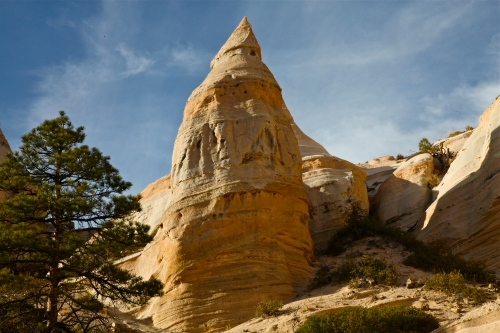 Large hoodoo at Kasha-Katuwe National Monument, New Mexico.