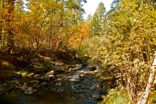 Jemez River near Battleship Rock.