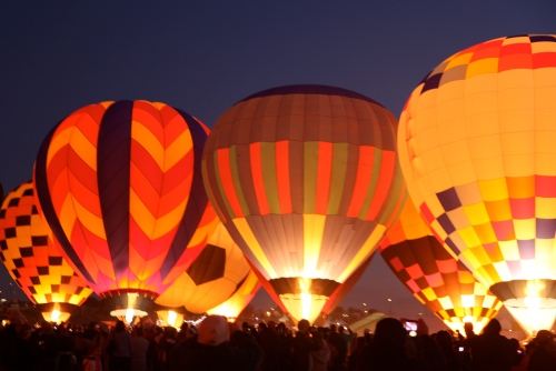 Albuquerque International Balloon Fiesta, Balloon Glow, October 7, 2011.