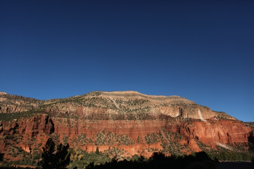 Spectacular red rock cliffs