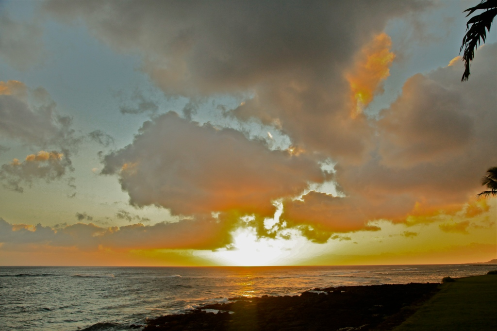 Sunset, Kuhio Shores, Kauai, Hawaii